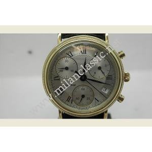 Condor- Chronograph Black Leather Strap (750 Gold)
