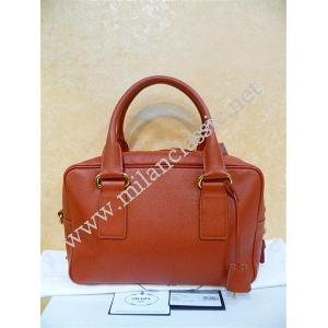 SOLD(已售出) - NEW - Prada Red Saffiano Leather Zipped Handbag