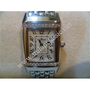 SOLD-Jaeger LeCoultre Lady Reverso Winding With Diamonds S/Steel 2Omm ( Box + Paper )