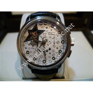 RETURNED-NEW - Zenith El Primero Star Automatic SS/Leather 38mm ( Box + Card )