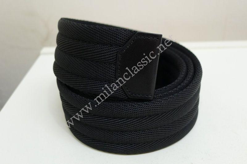 NEW - Prada Black Canvas Belt_PJ_100% Genuine - Milan Classic ...