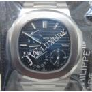 NEW (全新品)Patek Philippe Nautilus Moonphase/Power Reserve S/S Auto 40mm(With Card + Box)