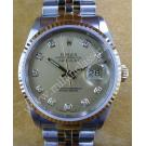 Rolex 16233 Gents Gold Dial Diamond 18K+SS Auto 36mm (With Box)