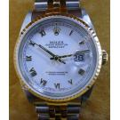 Rolex 16233 Gents White Dial Roman Letter 18K+SS Auto 36mm (With Box)