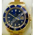 Rolex 16618 Submariner Blue Dial 18K Yellow Gold Auto 40mm (With Box)