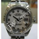 "Rolex 79174 Ladies White Dial Roman Letter 18K+SS Auto 26mm ""Y Series"" (with Card + Box)"