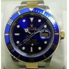 Rolex 16613 Submariner Blue Dial 18K+SS Auto 40mm (With Paper + Box)