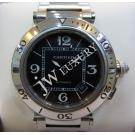 Cartier Pasha Seatimer Black Dial Auto S/S 40.5mm ( With Card + Box )