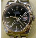 "Rolex 116234 Gents Black Index Dial Auto 18K/SS 36mm ""D-Series""(With Box + Card)"
