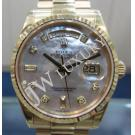 Rolex 118238 Gents M.O.P. Diamond Dial 18K(750) Yellow Gold Auto 36mm (with Paper + Box)