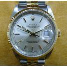 Rolex 16233 Gents Champagne Dial With Index 18K+S/S Auto 36mm ( With Box )