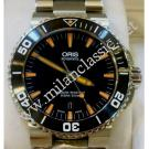 NEW-Oris-Aquis Ceramic Bezel Black Dial Orange Index Auto 43mm (With Card + Box)