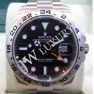 "Rolex 216570 Explorer II Black Dial S/S Auto 42mm S/N:""*77*****""(With Card + Box)"