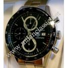 Tag Heuer Carrera Chrono Calibre 16 Auto Black Dial S/S 42mm (With Box)