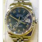 Rolex-116234 Gents Blue Roman Letter Dial Auto 18K/SS 36mm (With Box + Paper)