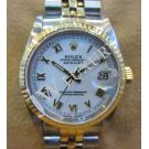 Rolex 68273 Boy Size White Dial with Roman Letter 18+SS Auto 30mm (with Card + Box)