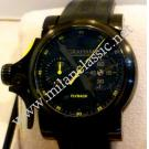 RESERVED WITH DEPOSIT - NEW-Graham-Chronofighter Trigger Flyback Auto Black PVD Coating / Rubber 46mm (With Box + Paper)