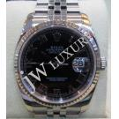 Rolex 116234 Black Dial with Roman Letter 18K+SS Auto 36mm ( with Card +  Box )