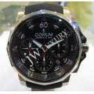 LIMITED-Corum Admiral's Cup Challenger Chronograph Black Dial Auto S/S 44mm(With Card + Box)