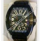 Franck Muller Conquistador Grand Prix Auto Titanium Black PVD / Rubber 48x62.7mm (With Box + Paper)