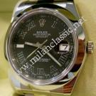 Rolex 116300 Oyster Perpetual Datejust II Dark Grey Roman Letter Dial Auto S/S 41mm (With Box + Card)