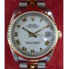 Rolex 68273 Boysize White Dial Roman Letter 18K+SS Auto 30mm (With Box)