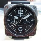 Bell & Ross BR03-94 Chrono Auto Black Dial S/S 42mm (With Box + Card)