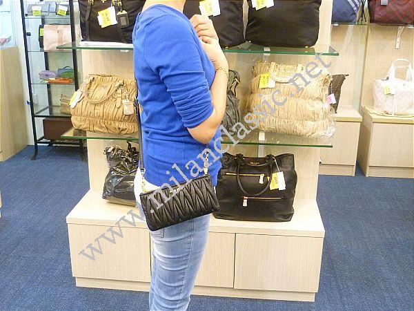 SOLD(已售出)NEW - Miu Miu Nappa Black Coffer Double Zipped Sling ... 683f93a7245dc