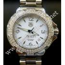 Tag Heuer-F1 Glamour Diamonds Lady Quartz White Dial S/S 37mm (With Box)
