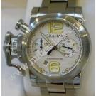 "Graham Chronofighter Chrono Silver Dial Auto S/S 40mm ""Left Handed"""