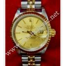 Rolex 69173 Lady 18K+SS Gold Dial Index 26mm (With Box)
