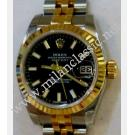 Rolex 179173 Ladies Black Dial Auto 18K/SS 26mm (With Box + Card)