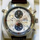NEW- IWC Spitfire Doppelchronograph Auto Steel/Leather 44mm (With Box + Card)