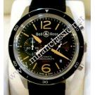 Bell & Ross-BR126 Sport Heritage Chrono Auto Black Dial Steel/Rubber 43mm
