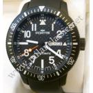 NEW- Fortis B42 Marinemaster Carbon Fibre Dial Black PVD /Rubber Auto 42mm (With Box + Card)