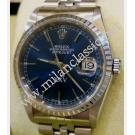 "Rolex 16220 Special Dubal XXV Blue Stick Dial Auto S/S 36mm ""D-Series"" (With Box + Paper)"