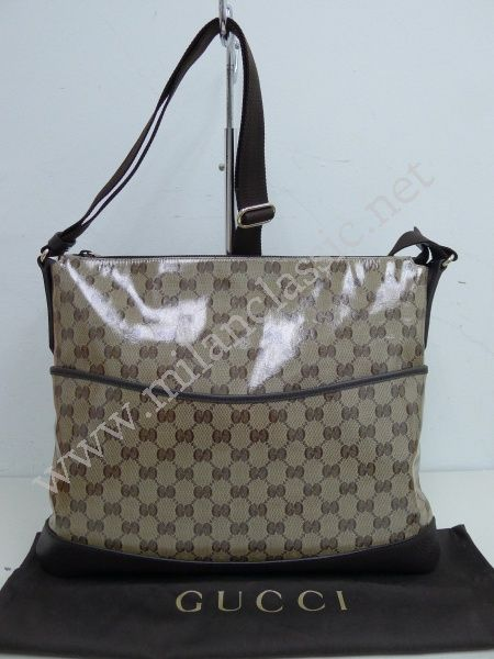 c94d4c2b160 SOLD(已售出)NEW - Gucci Brown Waterproof Canvas Sling Bag  NEW YEAR ...