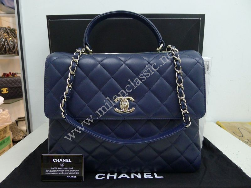 9d53a0fb1c3b78 SOLD(已售出)NEW - Chanel Quilted Lambskin In Deep Blue Flap Bag_MERDEKA