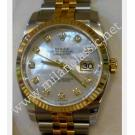 Rolex- Gents 116233 White M.O.P with Diamonds Index Dial Auto 18K/SS 36mm (With Box & Card)