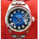 Rolex 69174 Two-Tone Blue Dial With Diamond Index Auto 18K/SS 26mm (With Box + card)