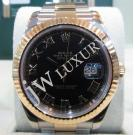 Rolex 116333 Oyster Perpetual Datejust II Black With Roman Letter Dial Auto 18K/SS 41mm (With Card + Box)