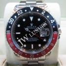 Rolex 16710 GMT Master II Black & Red Bezel Auto S/S 40mm  (With Box)