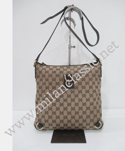 17b1ffe255b Gucci Canvas D-Ring with Brown Trim Sling Bag (Pig Skin) NEW YEAR ...
