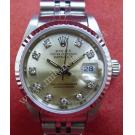 Rolex 69174 Champagne Dial With Diamonds 18K+SS Auto 26mm (With Box)