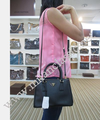 Prada Black Saffiano Lux Top Handle/Sling Bag(Mini)_KEPONG_100 ...