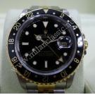 Rolex- 16713 GMT Master II Black Dial 18K+SS Auto 40mm (With Box )