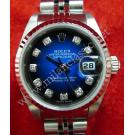 Rolex 79174 Lady Tow-Tone Blue Dial With Diamonds 18K+SS Auto 26mm (With Paper + Box)