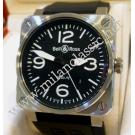 RESERVED WITH DEPOSIT - Bell & Ross-BR03-92 Auto Steel/Rubber 42mm (With Box)