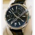 Zenith Captain Power Reserve Black Dial Auto Steel/Leather 40mm (With Box)
