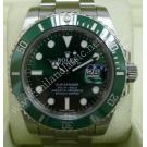 Rolex 116610LV Submariner Green Dial Green Ceramic Bezel Auto 41mm (With Box)